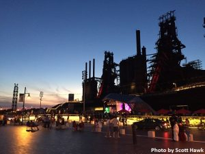 Steel Stacks - evening